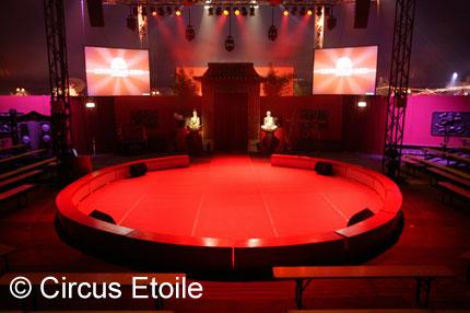 Circuspistes Circus piste Circustribunes Circusingangen