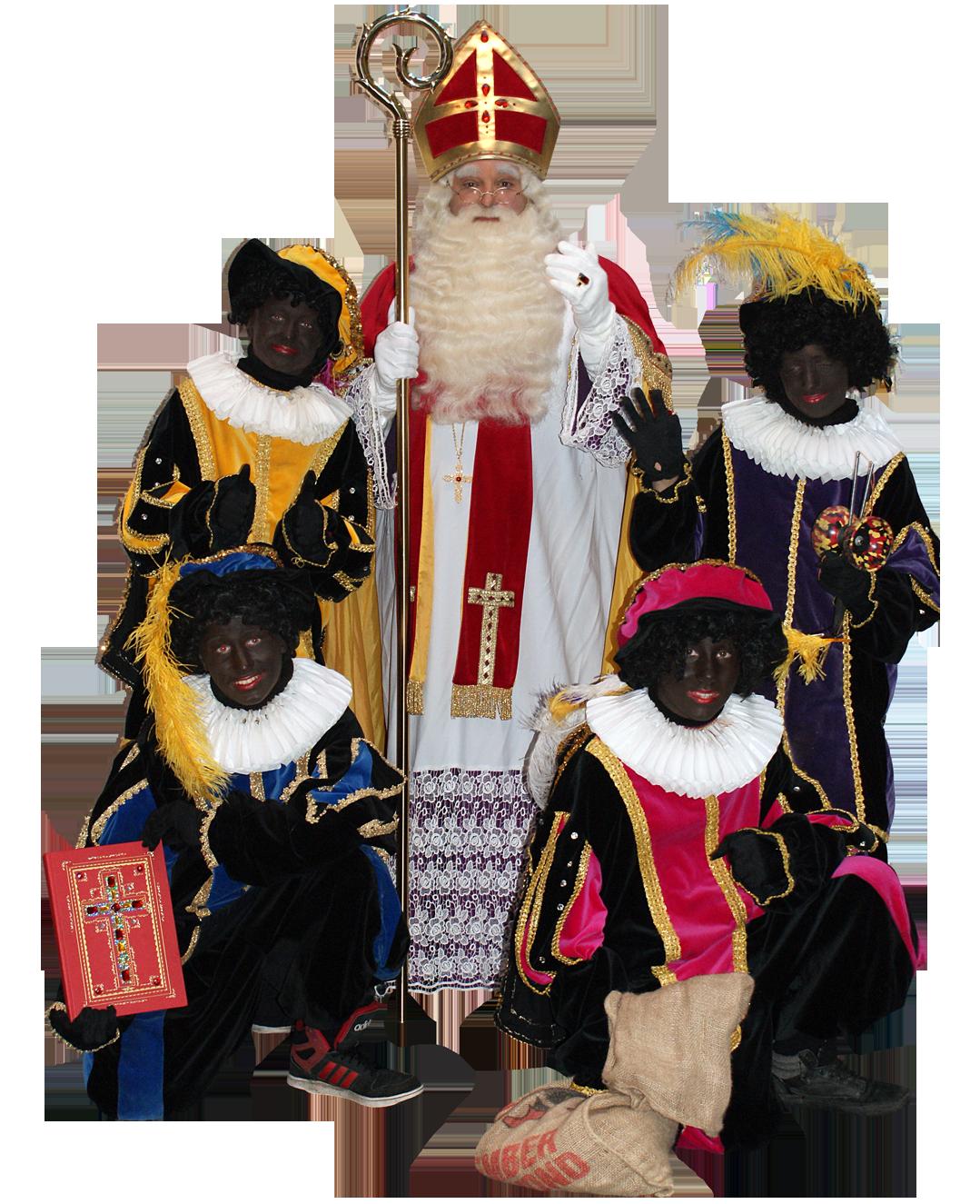 Sinterklaas met 4 pieten