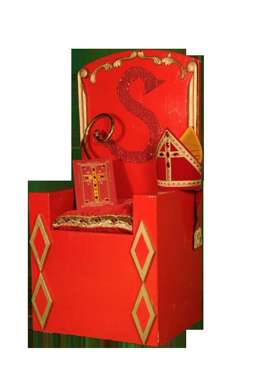 De zetel stoel van Sinterklaas