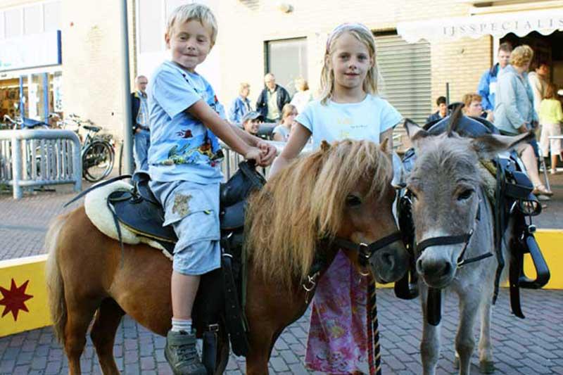 Pony en ezeltje rijden